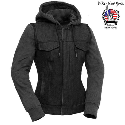Newon - Women's Motorcycle Leather Vest