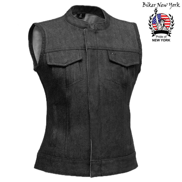 Iron - Women's Motorcycle Denim Vest