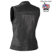 Iron - Women's Motorcycle Leather Vest