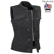 Iron - Women's Motorcycle Canvas Vest