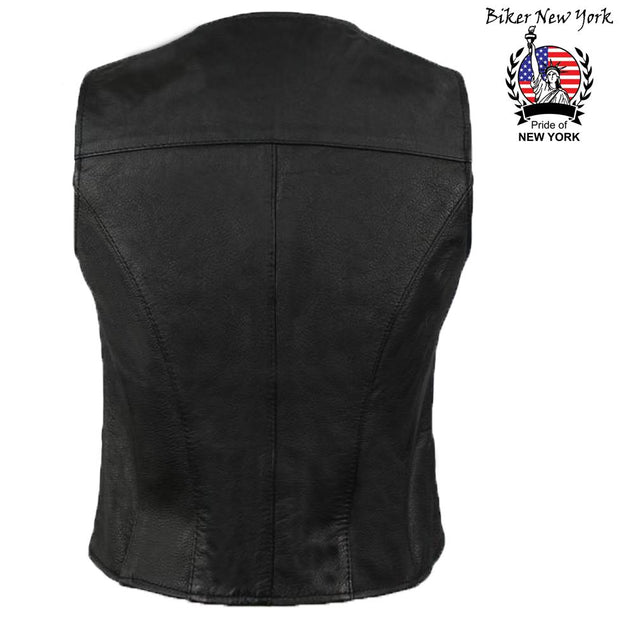 Dina - Women's Motorcycle Leather Vest
