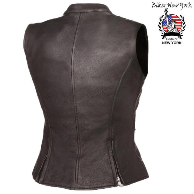 Smart - Women's Motorcycle Leather Vest