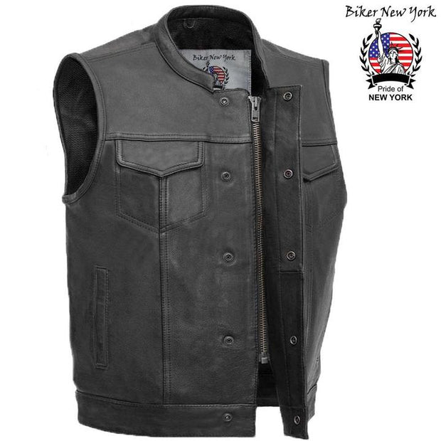 Bullet - Men's Motorcycle Leather Vest