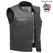 Master - Men's Motorcycle Leather Vest