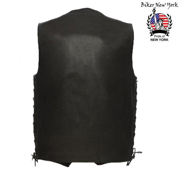 Street - Men's Motorcycle Leather Vest