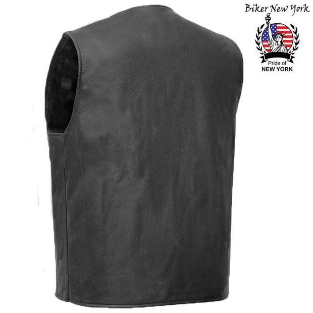 South - Men's Motorcycle Leather Vest