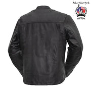 Baz - Men's Motorcycle Leather Jacket