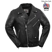 Roller - Men's Motorcycle Leather Jacket