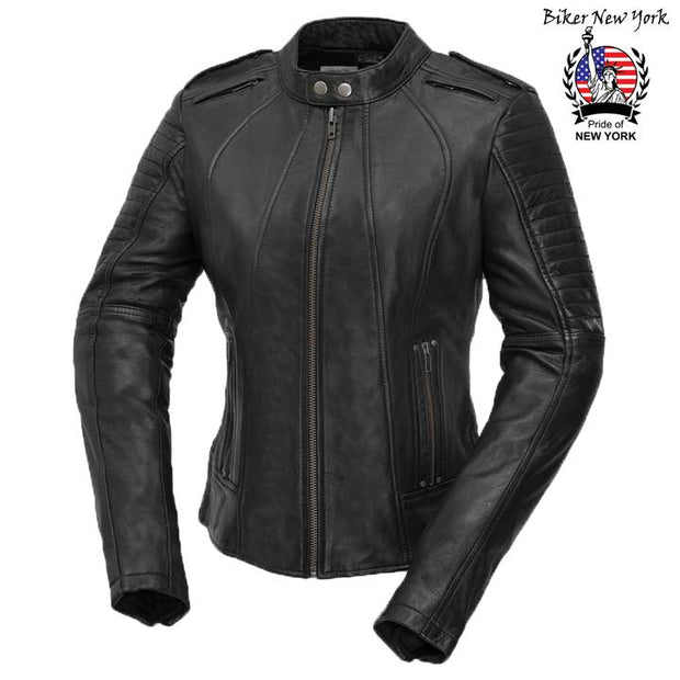 Hex - Women's Motorcycle Leather Jacket