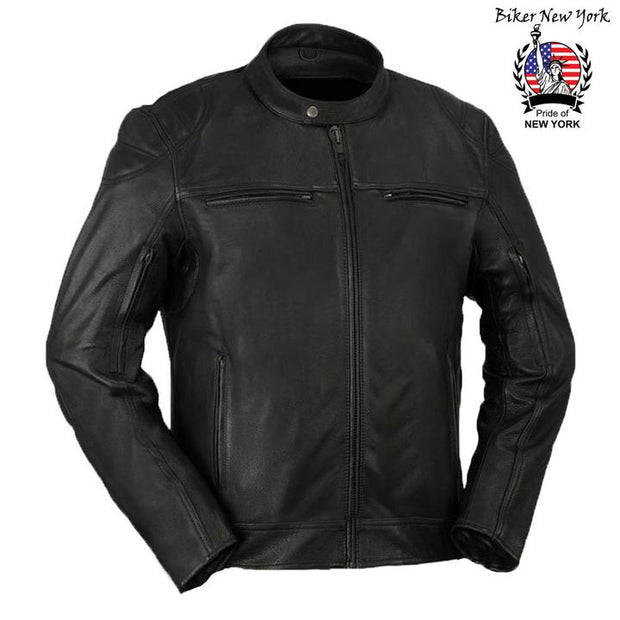 Night Rider - Men's Motorcycle Leather Jacket