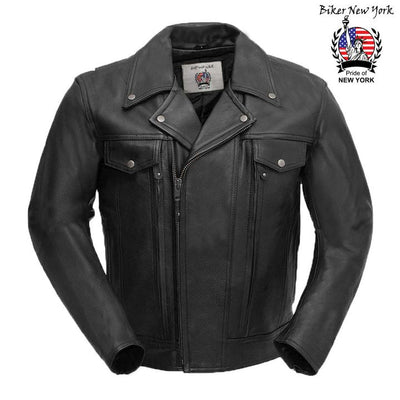 New York - Men's Motorcycle Leather Jacket