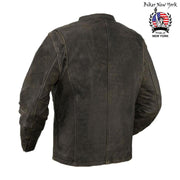 Pane - Men's Motorcycle Leather Jacket