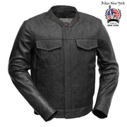 Phenom - Leather / Denim Motorcycle Jacket