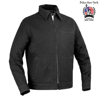Street Style - Canvas Men's Motorcycle Jacket