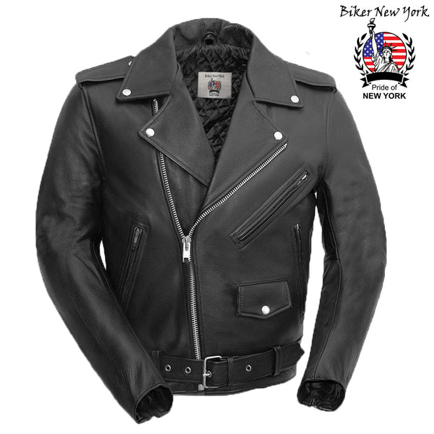 Biker - Men's Leather Motorcycle Jacket