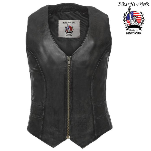 Bright - Women's Motorcycle Leather Vest