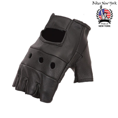 Horse - Fingerless Leather Gloves