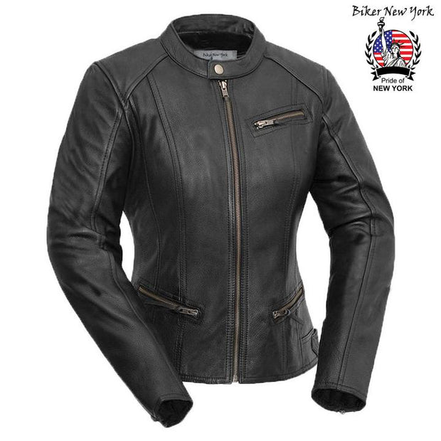 Ocean - Women's Motorcycle Leather Jacket