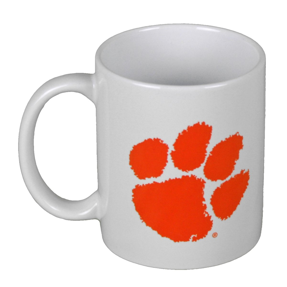 11 Oz Mug White With Orange Paw - Mr. Knickerbocker