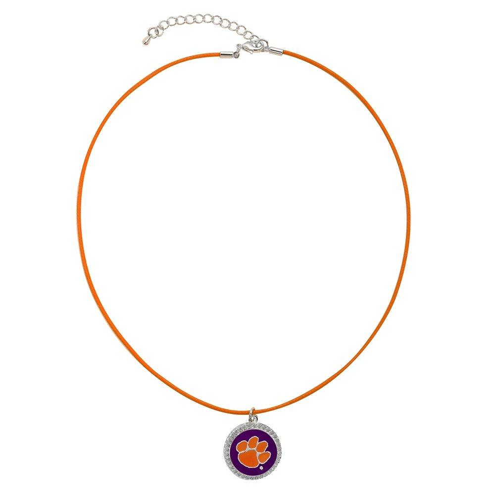 18'' Necklace-Nerium-Round Pendant - Purple With Orange Paw - Mr. Knickerbocker
