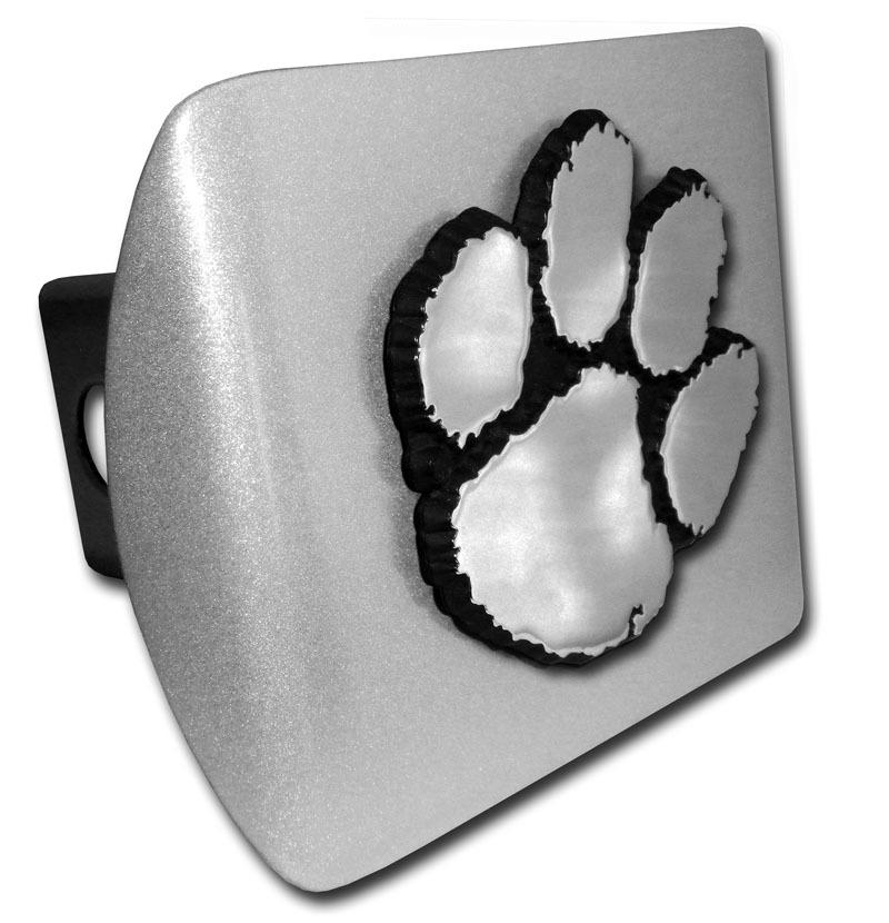 2'' Hitch Cover-brushed Aluminum With Chrome Paw - Mr. Knickerbocker