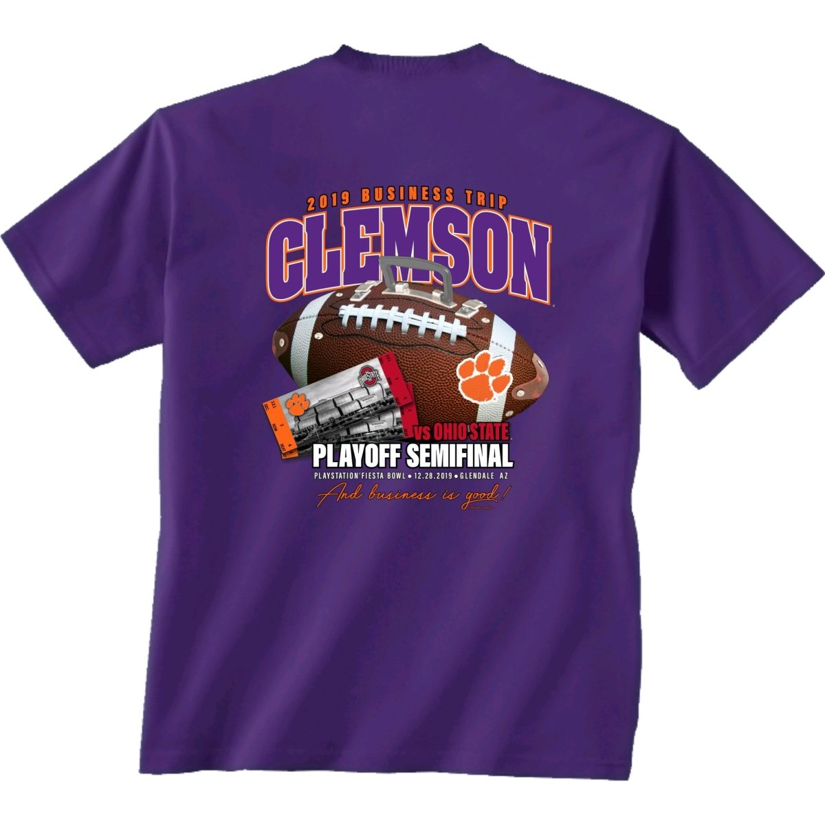 2019 Fiesta Bowl Playoff Tee - Mr. Knickerbocker