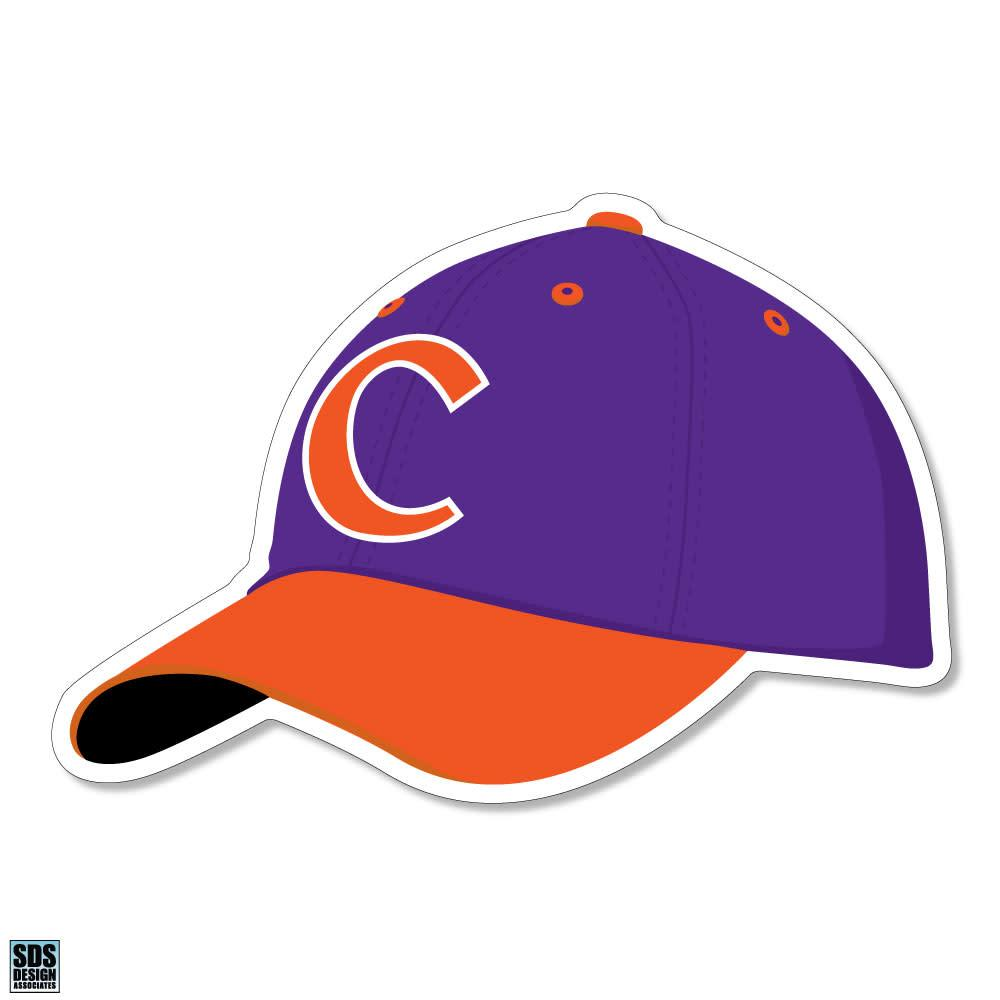 "12"" Clemson Baseball Hat Decal Sticker - Mr. Knickerbocker"