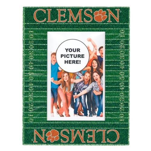 "Clemson Tigers 4"" X 6"" Magnetic Football Field Picture Frame - Mr. Knickerbocker"