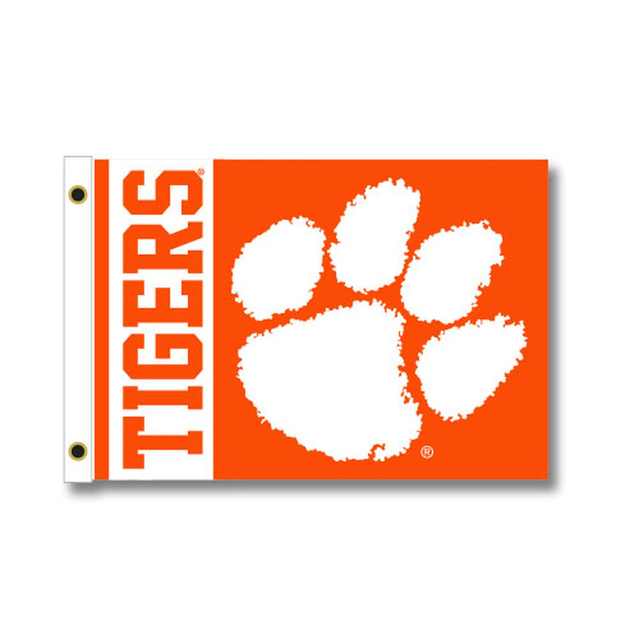 2 Sided Yard Flag 28''x40'' Orange With Tigers and White Paw - Mr. Knickerbocker