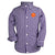 Wes and Willy Clemson Tigers Gingham Button up Shirt