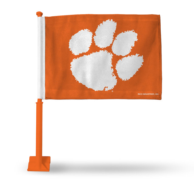 Rico Clemson Tigers Car Flag With Paw