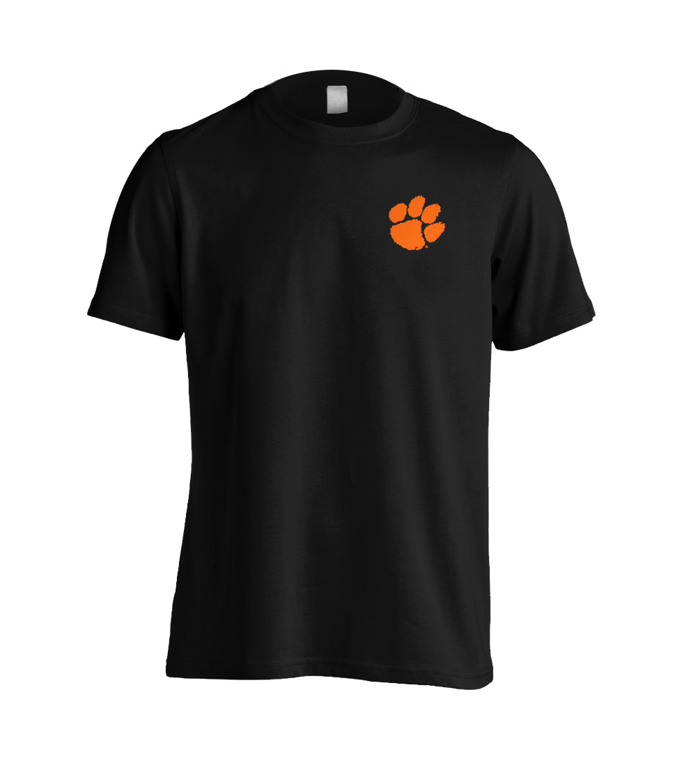 Biker Tee With Orange Paw