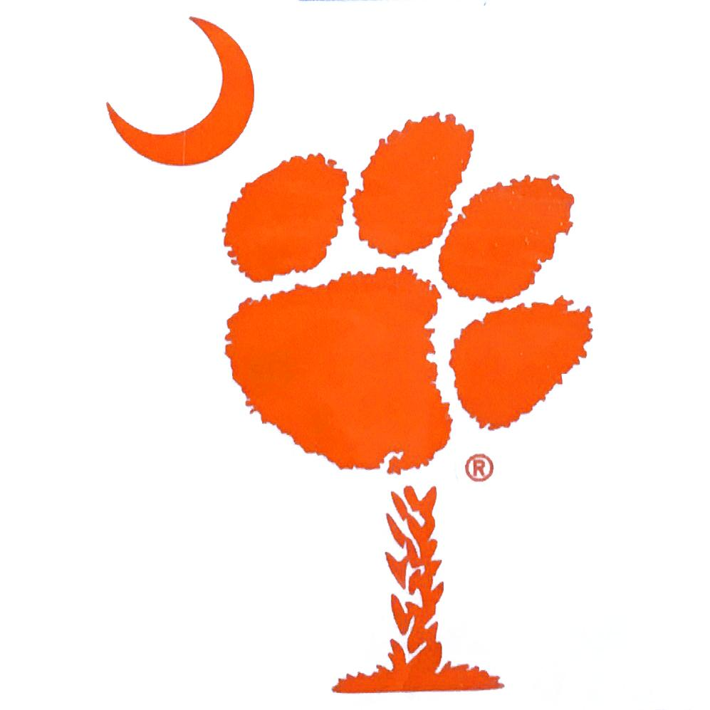 SDS Design Clemson Tigers Paw Palmetto Tree