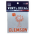 SDS Design Clemson Tigers Palmetto and Paw Vinyl Decal