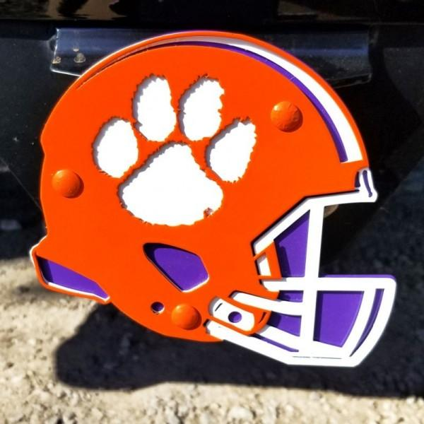 Clemson Helmet 3 Color Hitch Cover - Mr. Knickerbocker