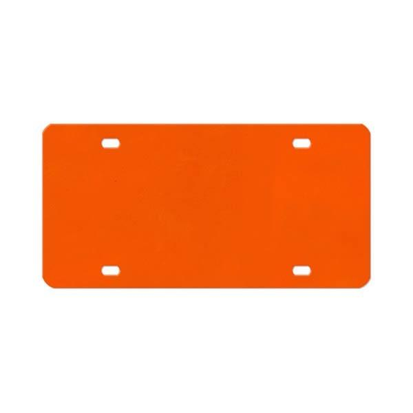 Gameday Ironworks Metal License Plate Backer - Orange or Purple - Mr. Knickerbocker