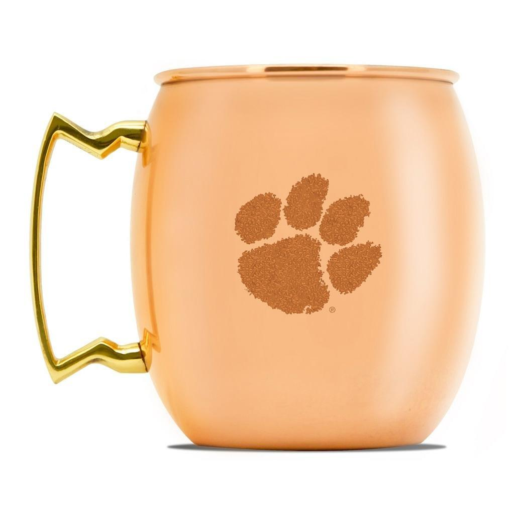24 Oz. Copper Moscow Mule Mug With Etched Paw - Mr. Knickerbocker