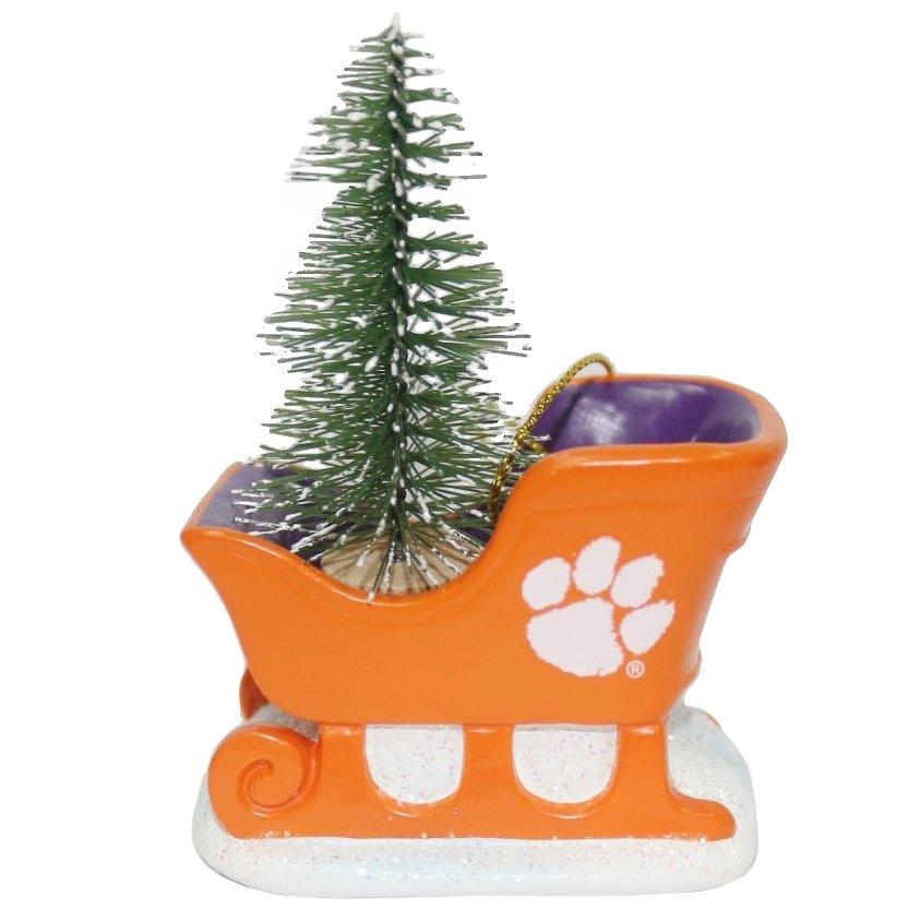 "3"" Resin Sleigh With White Paw Ornament - Mr. Knickerbocker"
