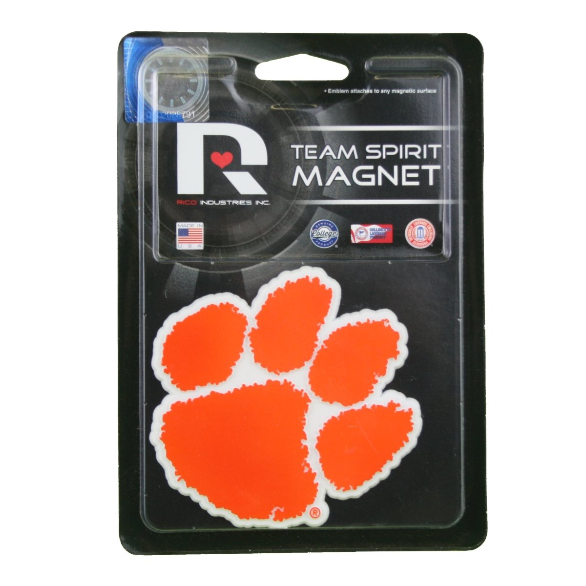 3D Team Spirit Tiger Paw Magnet - 3.25'' - Mr. Knickerbocker