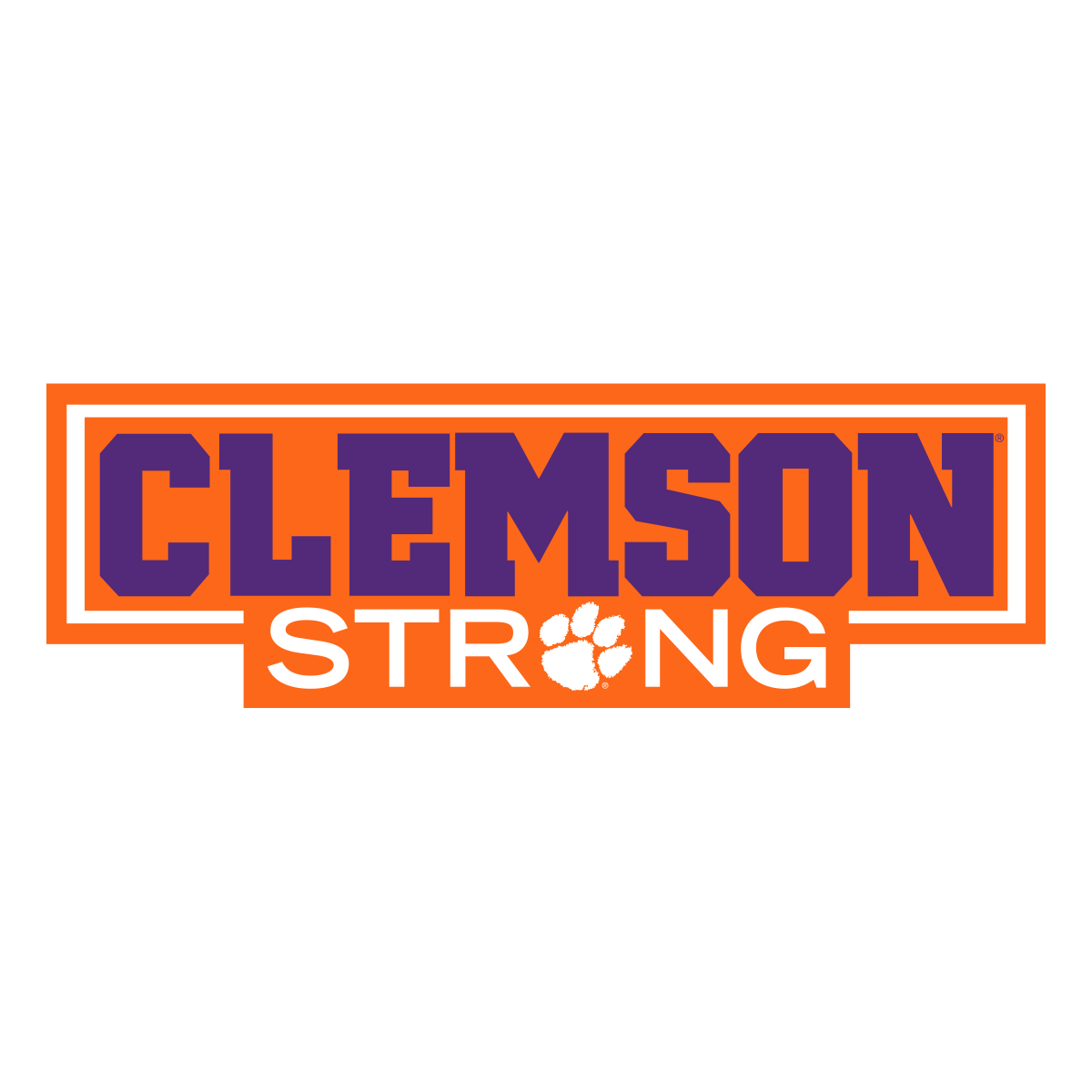 "6"" Clemson Strong Decal - Mr. Knickerbocker"