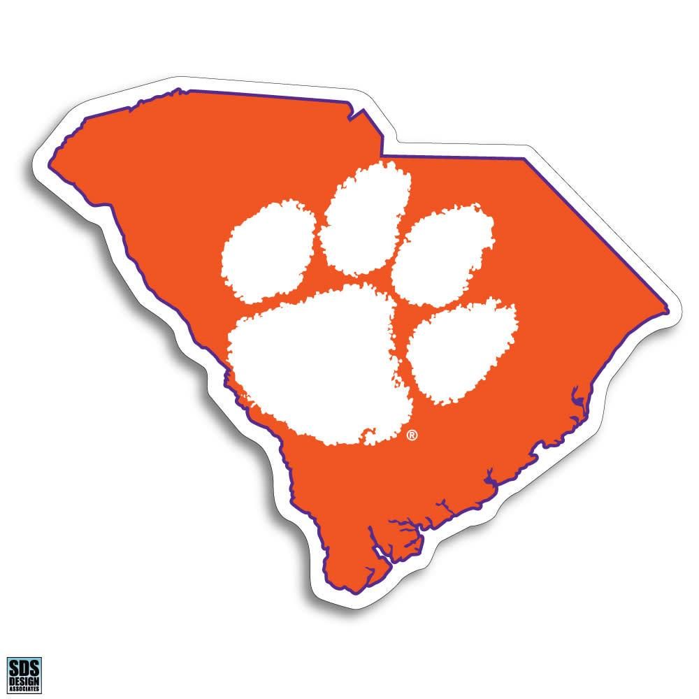 6'' Orange SC State Magnet w/Tiger Paw - Mr. Knickerbocker