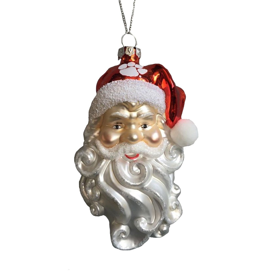"6"" Santa Glass Ornament - Mr. Knickerbocker"
