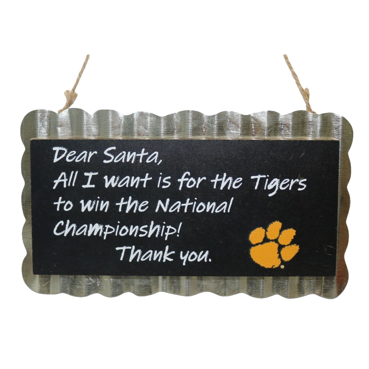 "7.25"" Wall Hanging Chalkboard - All I Want Is...national Championship - Mr. Knickerbocker"