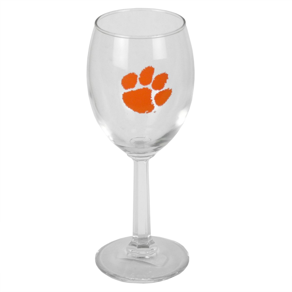 8 Oz Wine Glass With Orange Paw - Mr. Knickerbocker