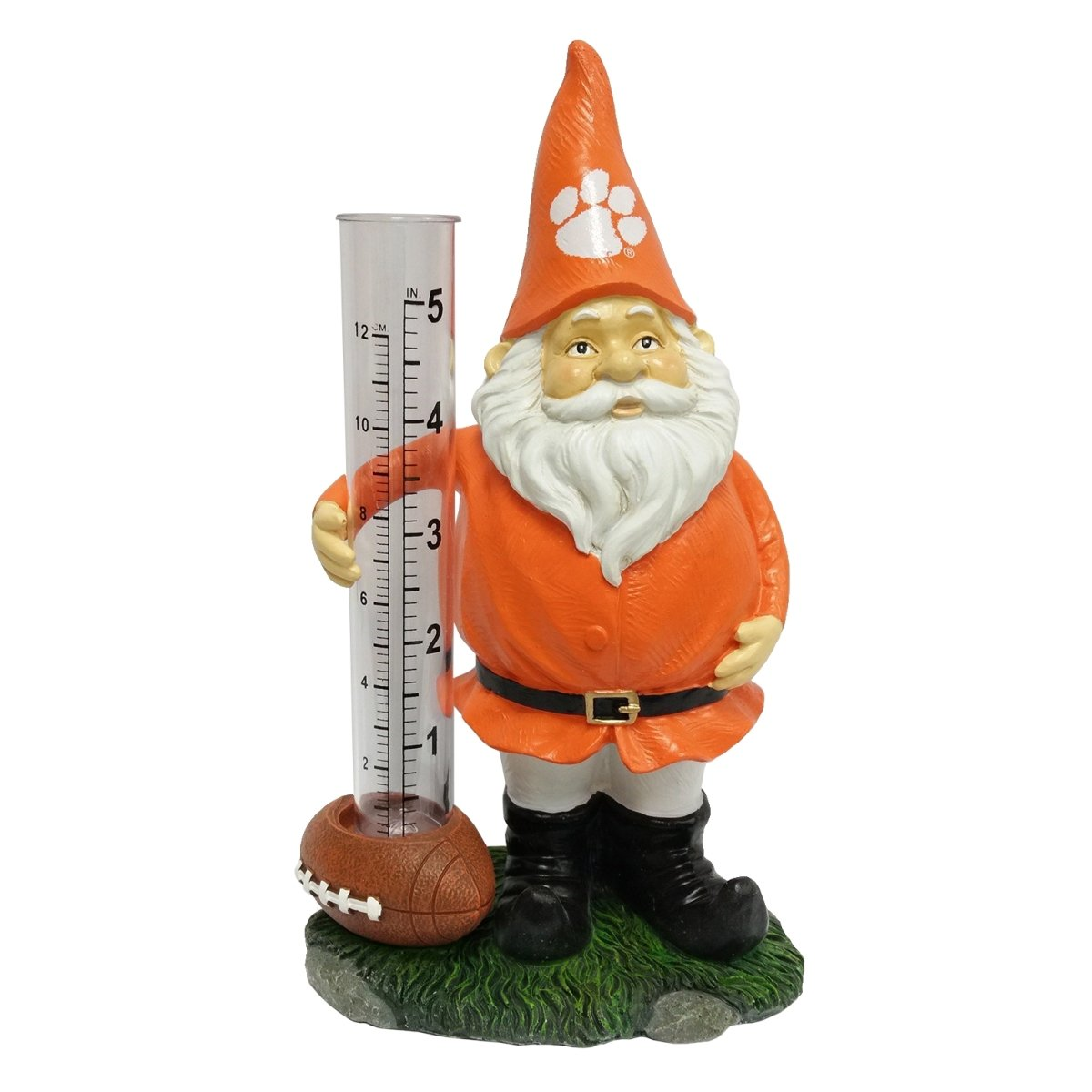 "8"" Resin Gnome Rain Gauge - Mr. Knickerbocker"
