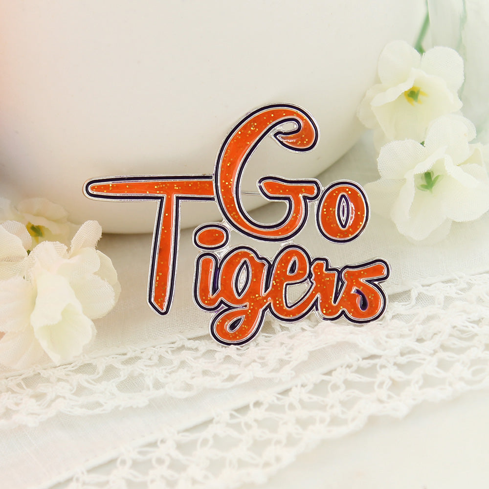 Seasons Jewelry Go Tigers! Enamel Pin
