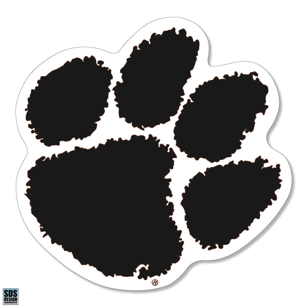 SDS Designs Clemson Tigers Paw Print Decal