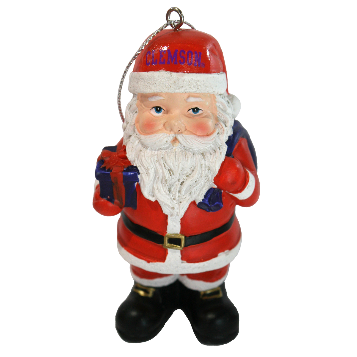 "Spirit Products 3.5"" Clemson Santa Ornament"