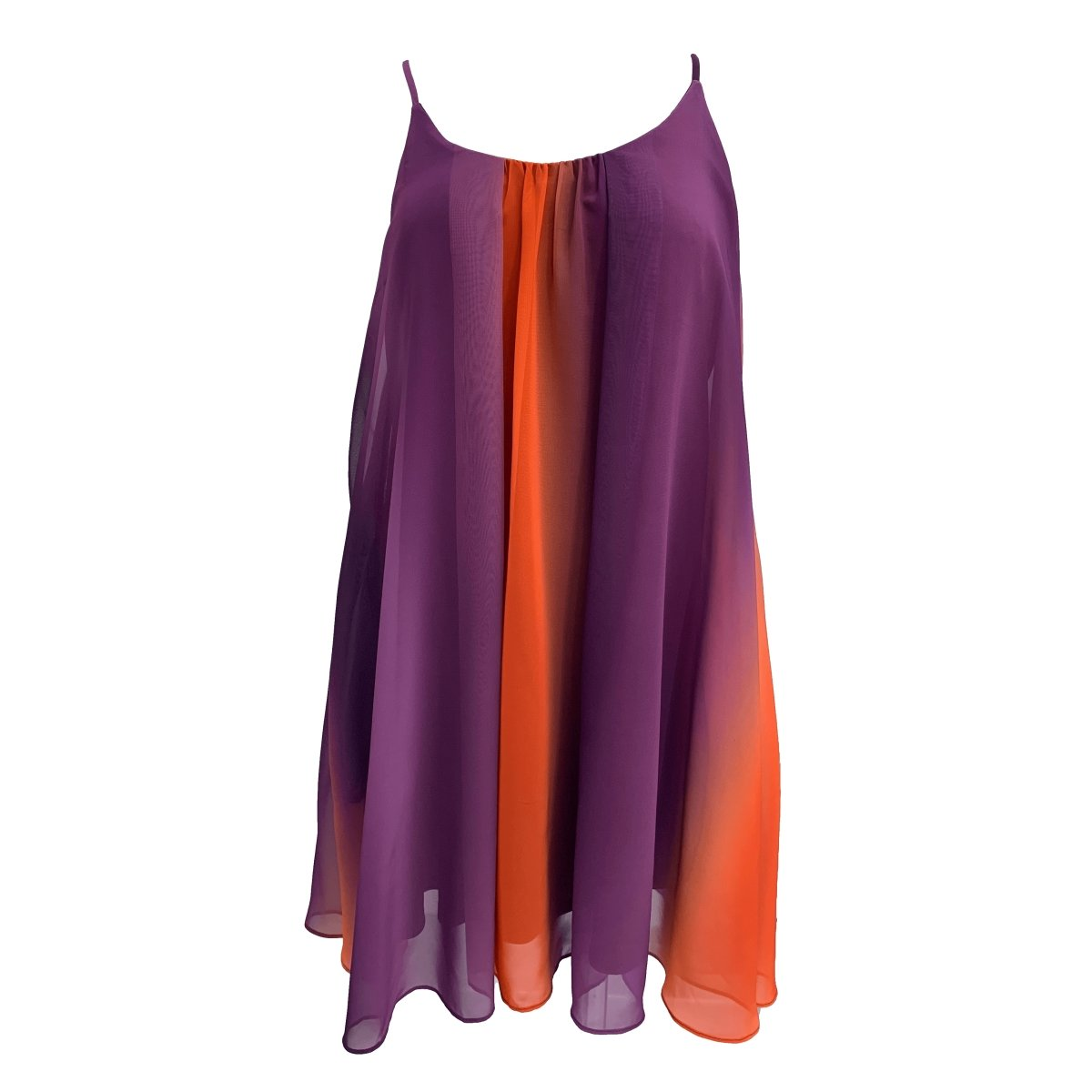 Adrienne Inc Orange and Purple Ombre Swing Dress - Mr. Knickerbocker