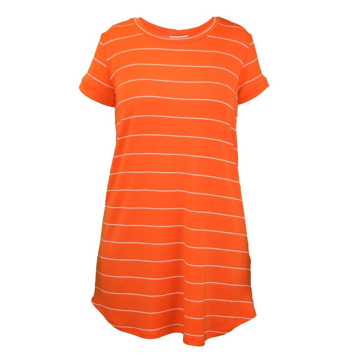 Adrienne Inc Orange Striped T-shirt Dress - Mr. Knickerbocker